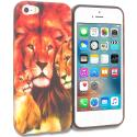 Apple iPhone 5/5S/SE Lion Family TPU Design Soft Rubber Case Cover Angle 1
