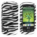LG Cosmos Touch VN270 Black / White Zebra Design Crystal Hard Case Cover Angle 1