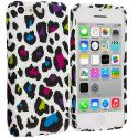 Apple iPhone 5C Colorful Leopard TPU Design Soft Case Cover Angle 1