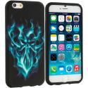 Apple iPhone 6 6S (4.7) Blue Skull Face TPU Design Soft Case Cover Angle 1
