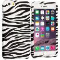 Apple iPhone 6 6S (4.7) Black/White Zebra Hard Rubberized Design Case Cover Angle 1