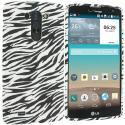 LG G Vista Black White Zebra TPU Design Soft Rubber Case Cover Angle 1