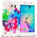 Samsung Galaxy S6 Butterfly Colorful TPU Design Soft Rubber Case Cover Angle 1