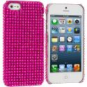 Apple iPhone 5/5S/SE Hot Pink Bling Rhinestone Case Cover Angle 1