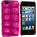 Apple iPhone 5 Hot Pink Bling Rhinestone Case Cover Angle 2