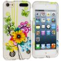 Apple iPod Touch 5th 6th Generation Sun Flower Hard Rubberized Design Case Cover Angle 1