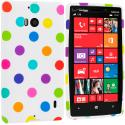 Nokia Lumia 929 Icon White / Colorful TPU Design Soft Case Cover Angle 1
