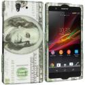 Sony Xperia Z Hundred Dollars 2D Hard Rubberized Design Case Cover Angle 1