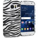 Samsung Galaxy S7 Edge Black/White Zebra TPU Design Soft Rubber Case Cover Angle 1