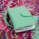 ZTE Aspect - Mint MPERO FLEX FLIP Wallet Case Cover Angle 2