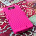 Motorola DROID ULTRA XT1080 MPERO 3 in 1 Tough Hot Pink Kickstand Case Cover Angle 2