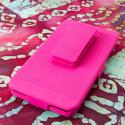 Motorola DROID ULTRA XT1080 MPERO 3 in 1 Tough Hot Pink Kickstand Case Cover Angle 3