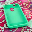 Samsung Epic 4G Touch - Mint Green MPERO SNAPZ - Rubberized Case Cover Angle 2