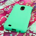 Samsung Epic 4G Touch - Mint Green MPERO SNAPZ - Rubberized Case Cover Angle 3
