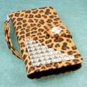 OnePlus One - Studded Leopard MPERO FLEX FLIP Wallet Case Cover Angle 2