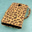OnePlus One - Studded Leopard MPERO FLEX FLIP Wallet Case Cover Angle 3