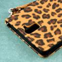 OnePlus One - Studded Leopard MPERO FLEX FLIP Wallet Case Cover Angle 6