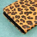 OnePlus One - Studded Leopard MPERO FLEX FLIP Wallet Case Cover Angle 7