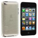 Apple iPod Touch 4th Generation Clear Mesh Crystal Transparent Hard Case Cover Angle 1
