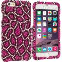 Apple iPhone 6 6S (4.7) Hot Pink Giraffe Bling Rhinestone Case Cover Angle 1