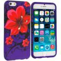 Apple iPhone 6 Plus Red Rose Purple TPU Design Soft Rubber Case Cover Angle 1