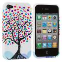 Apple iPhone 4 / 4S Love Tree TPU Rubber Skin Case Cover Angle 2