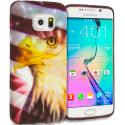 Samsung Galaxy S6 Edge USA Eagle TPU Design Soft Rubber Case Cover Angle 1