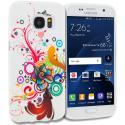 Samsung Galaxy S7 Edge Autumn Flower TPU Design Soft Rubber Case Cover Angle 1