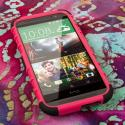 HTC One M8/ M8- HOT PINK MPERO IMPACT SR - Kickstand Case Cover Angle 2