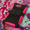 HTC One M8/ M8- HOT PINK MPERO IMPACT SR - Kickstand Case Cover Angle 3