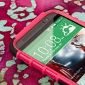 HTC One M8/ M8- HOT PINK MPERO IMPACT SR - Kickstand Case Cover Angle 5