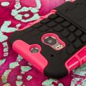 HTC One M8/ M8- HOT PINK MPERO IMPACT SR - Kickstand Case Cover Angle 6