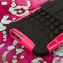 HTC One M8/ M8- HOT PINK MPERO IMPACT SR - Kickstand Case Cover Angle 7
