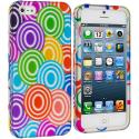 Apple iPhone 5/5S/SE Colorful Lolly Hard Rubberized Design Case Cover Angle 1