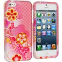 Apple iPhone 5/5S/SE Pink Fairy Tale Hard Rubberized Design Case Cover Angle 1
