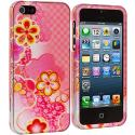 Apple iPhone 5/5S/SE Pink Fairy Tale Hard Rubberized Design Case Cover Angle 2