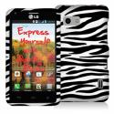 LG Mach LS860 Black / White Zebra Design Crystal Hard Case Cover Angle 1