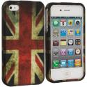 Apple iPhone 4 The Union Flag Hard Rubberized Design Case Cover Angle 1