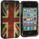 Apple iPhone 4 / 4S The Union Flag Hard Rubberized Design Case Cover Angle 2