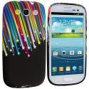Samsung Galaxy S3 Rainbow Stars TPU Design Soft Case Cover Angle 1