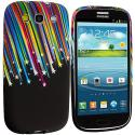 Samsung Galaxy S3 Rainbow Stars TPU Design Soft Case Cover Angle 2