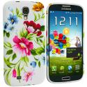 Samsung Galaxy S4 Flower Painting TPU Design Soft Case Cover Angle 2