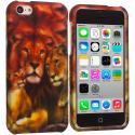 Apple iPhone 5C Lion Hard Rubberized Design Case Cover Angle 1