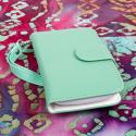 Huawei Vitria - Mint MPERO FLEX FLIP Wallet Case Cover Angle 2