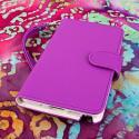 Samsung Galaxy Note 3 N900A N900V N9000 - Purple MPERO FLEX FLIP Wallet Case Angle 2