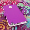 Samsung Galaxy Note 3 N900A N900V N9000 - Purple MPERO FLEX FLIP Wallet Case Angle 3