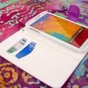 Samsung Galaxy Note 3 N900A N900V N9000 - Purple MPERO FLEX FLIP Wallet Case Angle 4