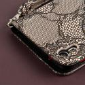 HTC Desire EYE - Black Lace MPERO FLEX FLIP Wallet Case Cover Angle 7