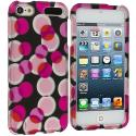 Apple iPod Touch 5th Generation 5G 5 Hot Pink Bubbles Hard Rubberized Design Case Cover Angle 1