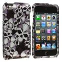 Apple iPod Touch 4th Generation Skull Design Crystal Hard Case Cover Angle 1